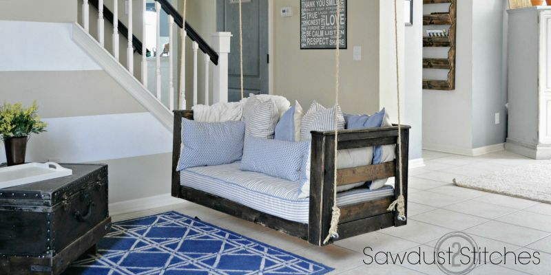 Crib Mattress Porch Swing Sawdust 2 Stitches Porch Swing Diy Porch Swing Crib Mattress