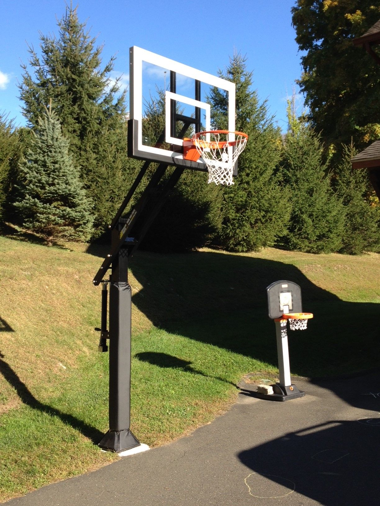 This Fully Extended Pro Dunk Silver Basketball System Is Exactly What The Little Goal That Could