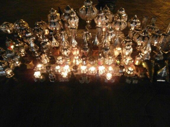 Moroccan lanterns at Marrakesh market
