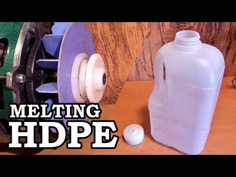 Turning An Hdpe Milk Jug Into A Motor Pulley Make Plastic Milk Bottles Hdpe Plastic Milk Jug