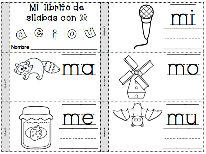 Letra M Silabas ma, me, mi, mo, mu | Alfabetos y sílabas: ejercicios ...