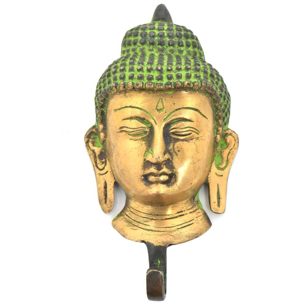 Buddha Face Brass Wall Robe/Coat/Clothes Hook | Wall hooks ...