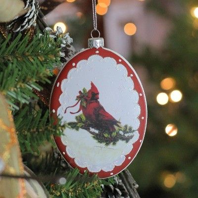 Roman Christmas Ornaments.Roman 5 Cardinal With Holly And Berry Glittered Christmas