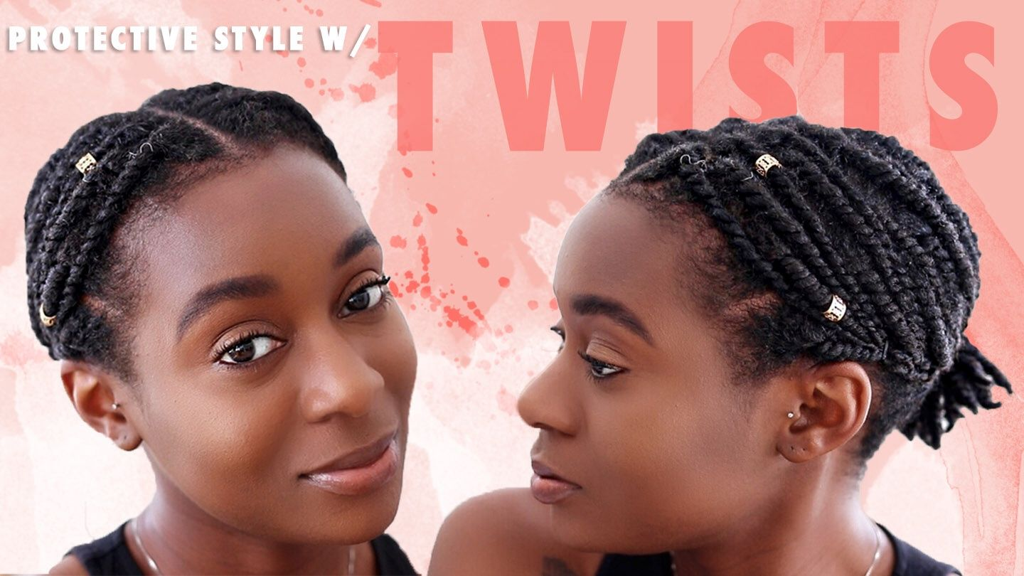 Quick Easy Protective Style For Short Natural Hair 2 Strand Hair Hairstylesforwomen Hairstyl Short Natural Hair Styles Hair Twist Styles Natural Hair Styles