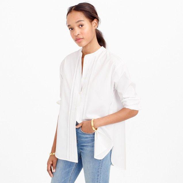 Thomas Mason® for J.Crew collarless tuxedo shirt  7c1b5a2ca