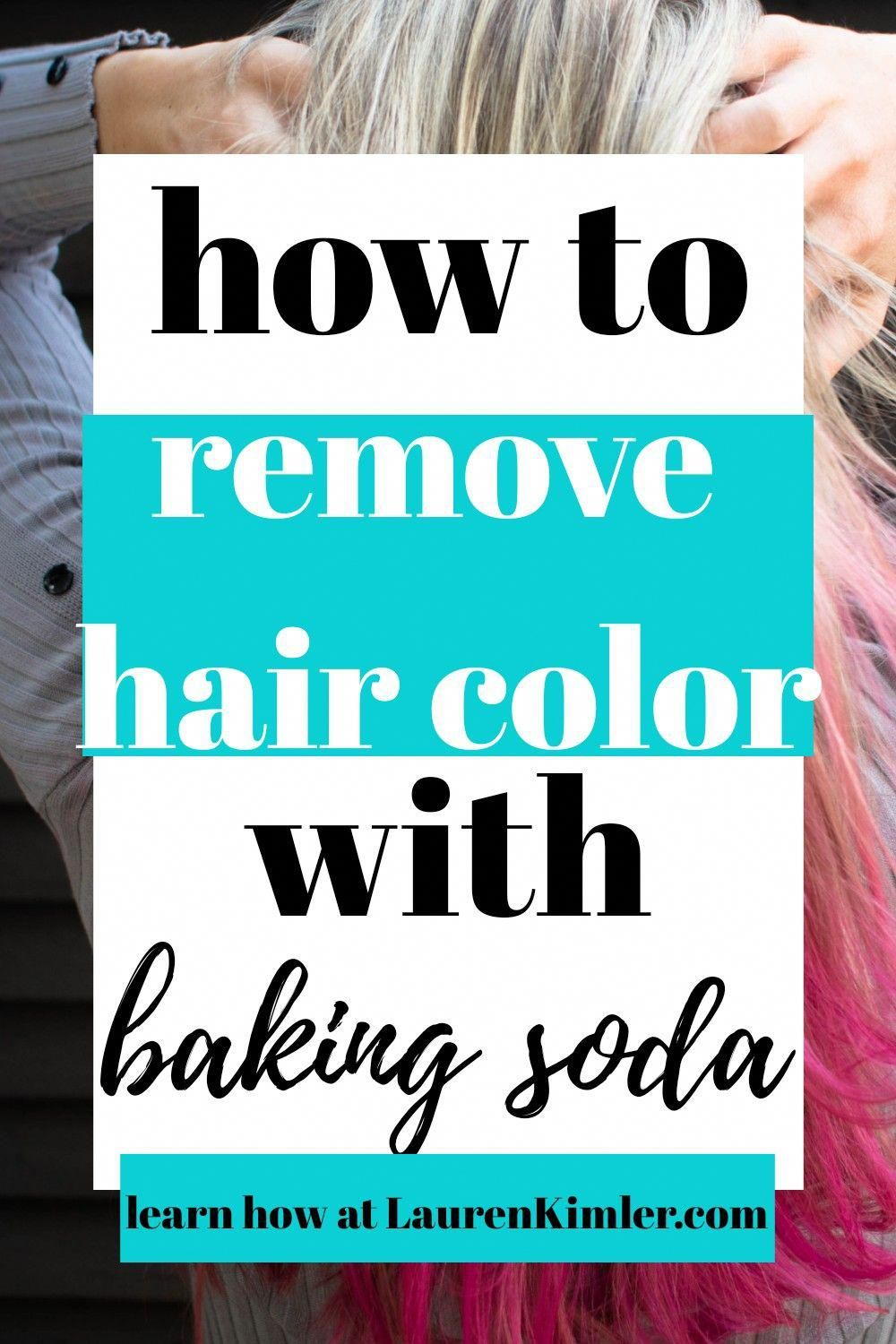 How to Remove Hair Color with Baking Soda in 2020 Hair