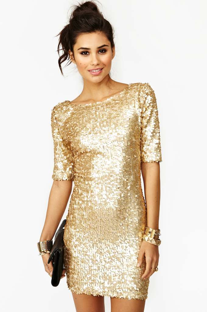 2ea8f2cd33216 New Year's Eve dress | Just my style | Dresses, Sequin dress, Gold ...