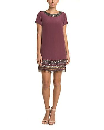 Spotted this Nicole Miller Plum Embellished Silk Dress on Rue La La. Shop (quickly!).