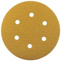 Abracs Gold 150mm Hook & Loop Dust Free Sanding Discs