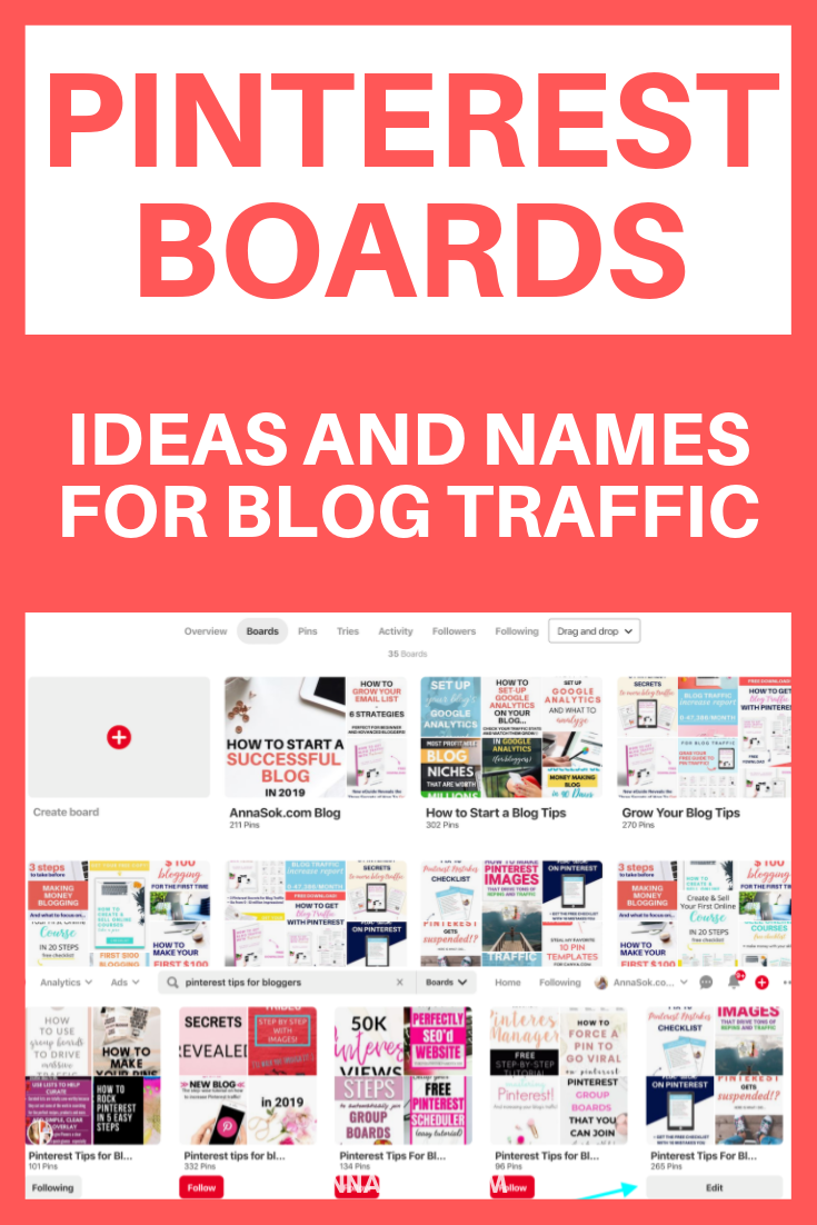 Pinterest Board Ideas, Names and Organization for Bloggers [2019 ...