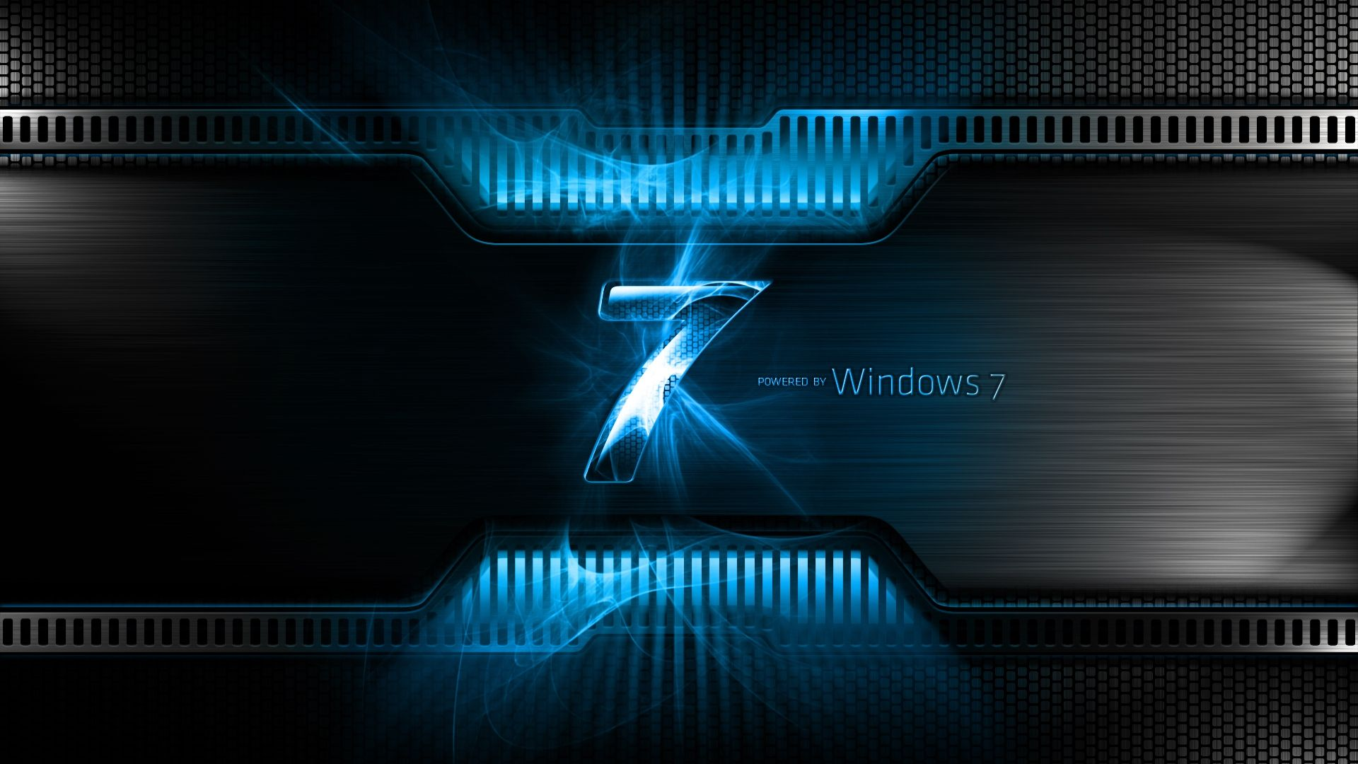 download wallpaper 1920x1080 windows 7, blue, black, logo, light