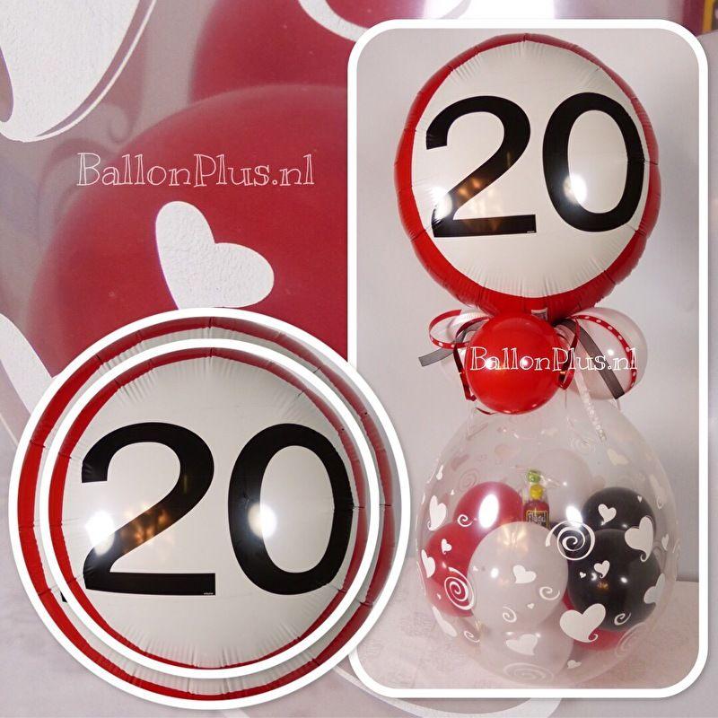cadeau voor 20 jaar getrouwd Cadeau   Kado Ballon   20 jaar getrouwd   hartjes   Folie  cadeau voor 20 jaar getrouwd