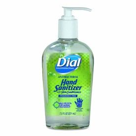 Dial 12 Count 7 5 Oz Fragrance Free Hand Sanitizer Gel 01585