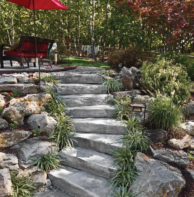 Resultado de imagen para jardines con caminerias en patios for Jardines en piedra natural