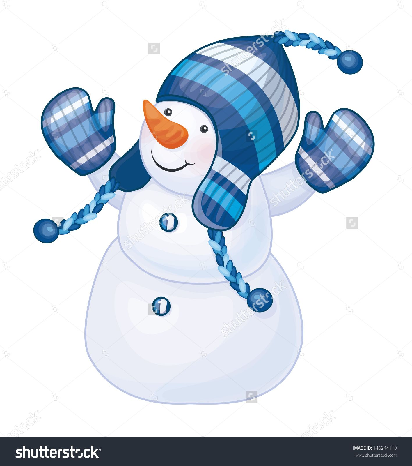 Vector Of Fun Snowman Isolated Snowman Clipart Free Clip Art Snowmen Pictures