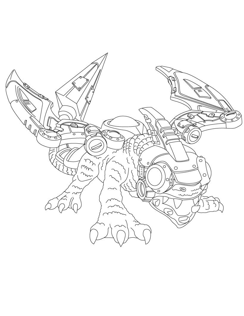 DROBOT Coloring Page Do You Like Skylanders GIANTS Pages Can Print Out This Pagev Or Color It Online With Our