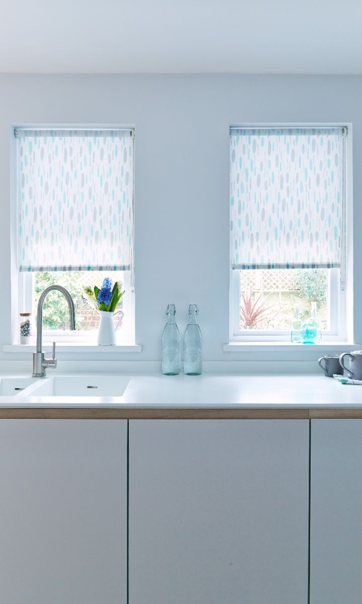 Painterly Duck Egg Roller blind for your kitchen from Hillarys. Find ...
