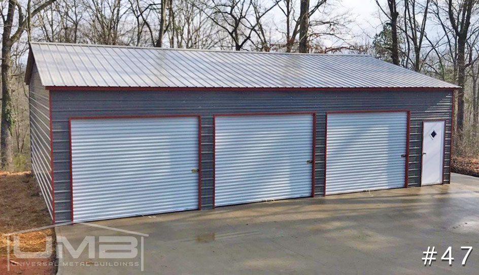 30x40 Side Entry Garage Building Universal Metal Buildings Metal Buildings Garage Design Carport Designs
