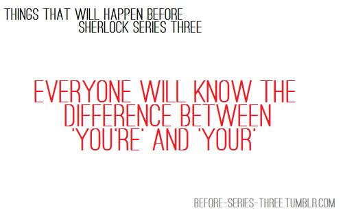 before Sherlock Season 3...