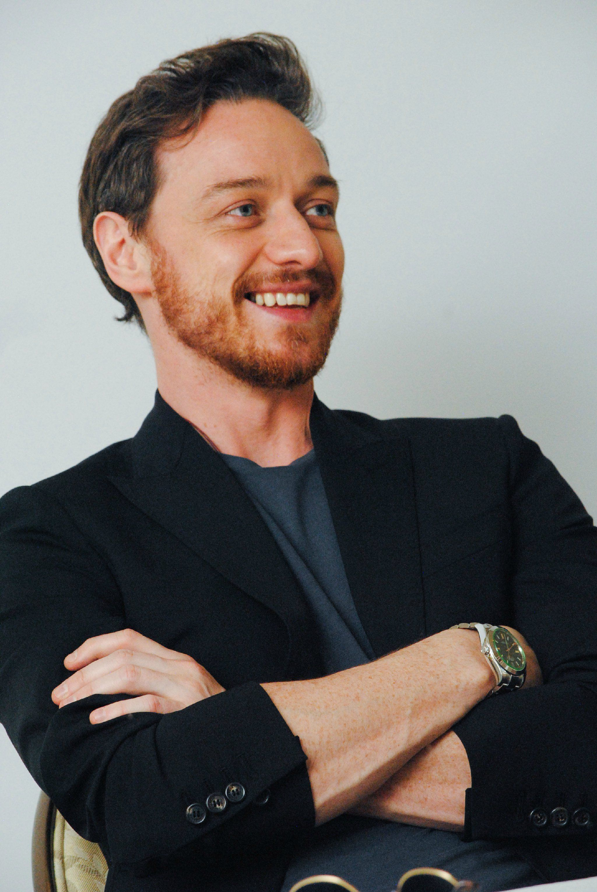 "James McAvoy Attends the press conference of ""Split"" held ..."
