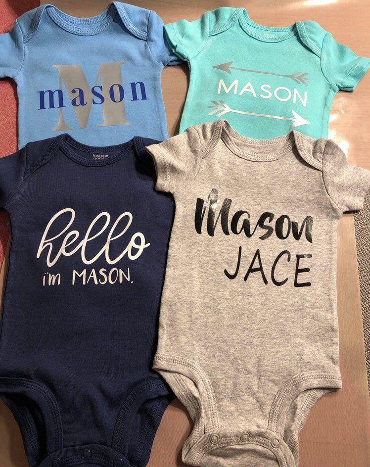 Custom Baby Onesie Set of 2
