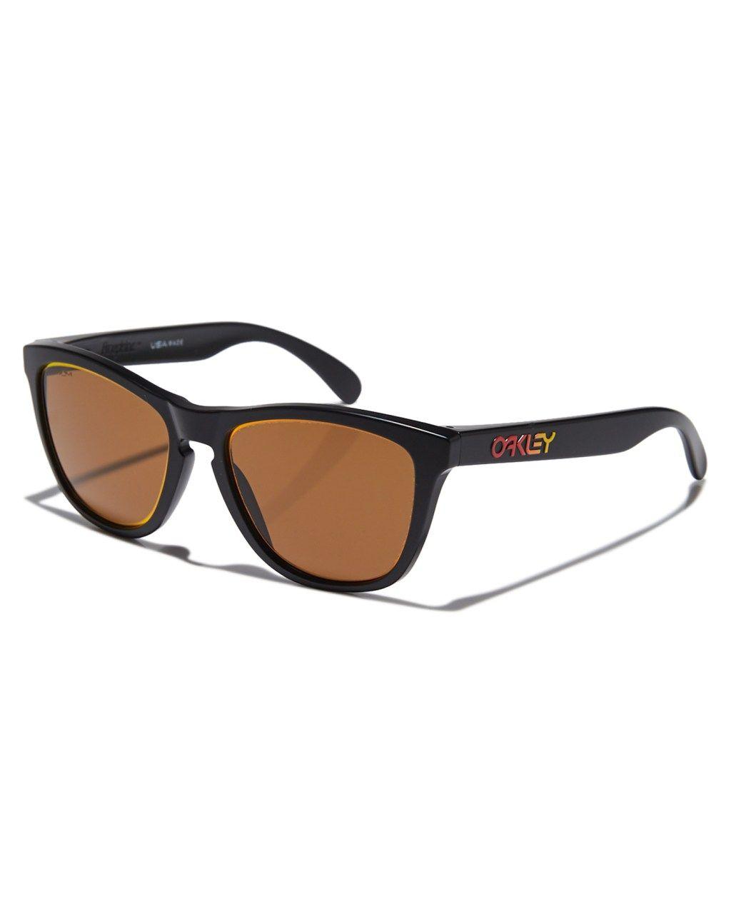 1668171c116 Oakley Frogskins Sunglasses Matte Black Prizm Mens sunglasses Size ...