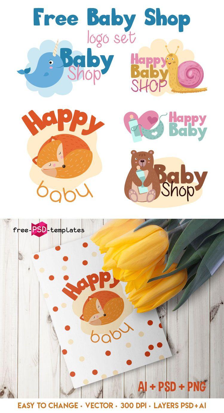 7c951bc68b7a5 Set Of Free Baby Shop Logo   Design Inspiration   Baby shop, Shop ...