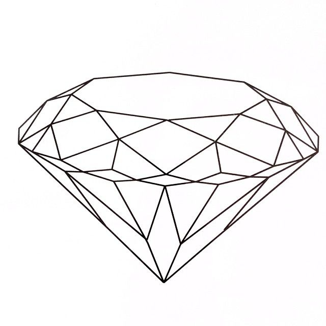 Line Drawing Diamond : Diamond brilliant diamonds pinterest