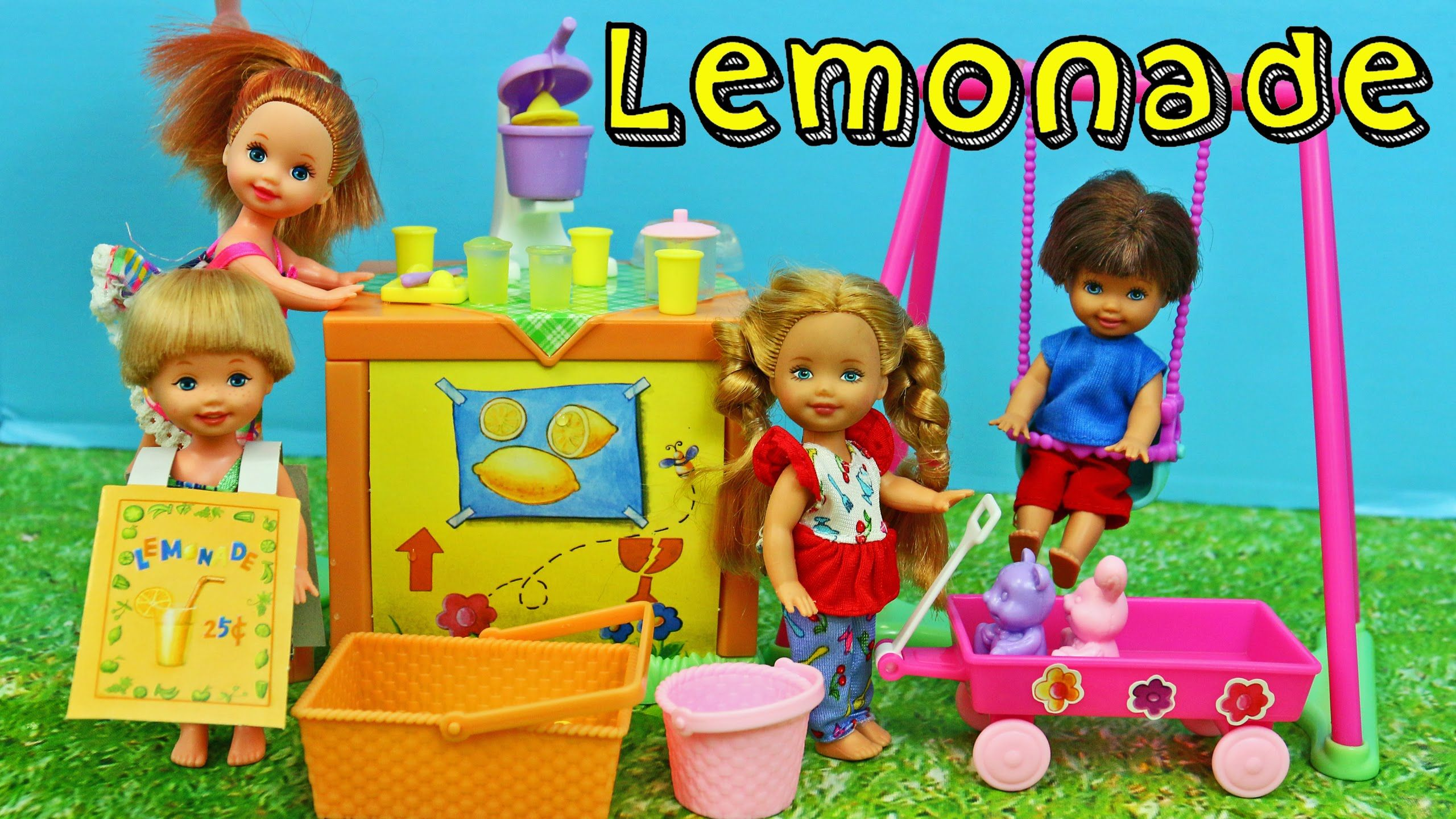 Barbie Kelly Lemonade Stand Playset Vintage Kid Barbie Dolls Toy