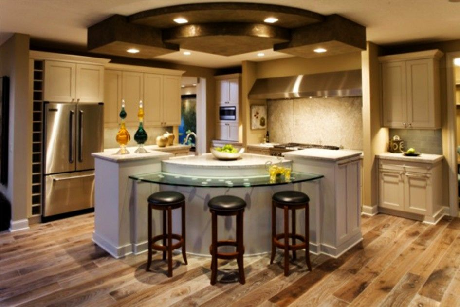 Tremendous Center Kitchen Island Ideas With Curved Gl Breakfast Pertaining To Stylish House Small Bar Remodel