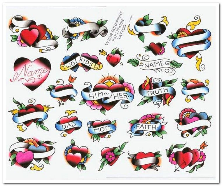 Heart With Banner Tattoo Traditional Tattoo Banner Heart Tattoos With Names Bleeding Heart Tattoo