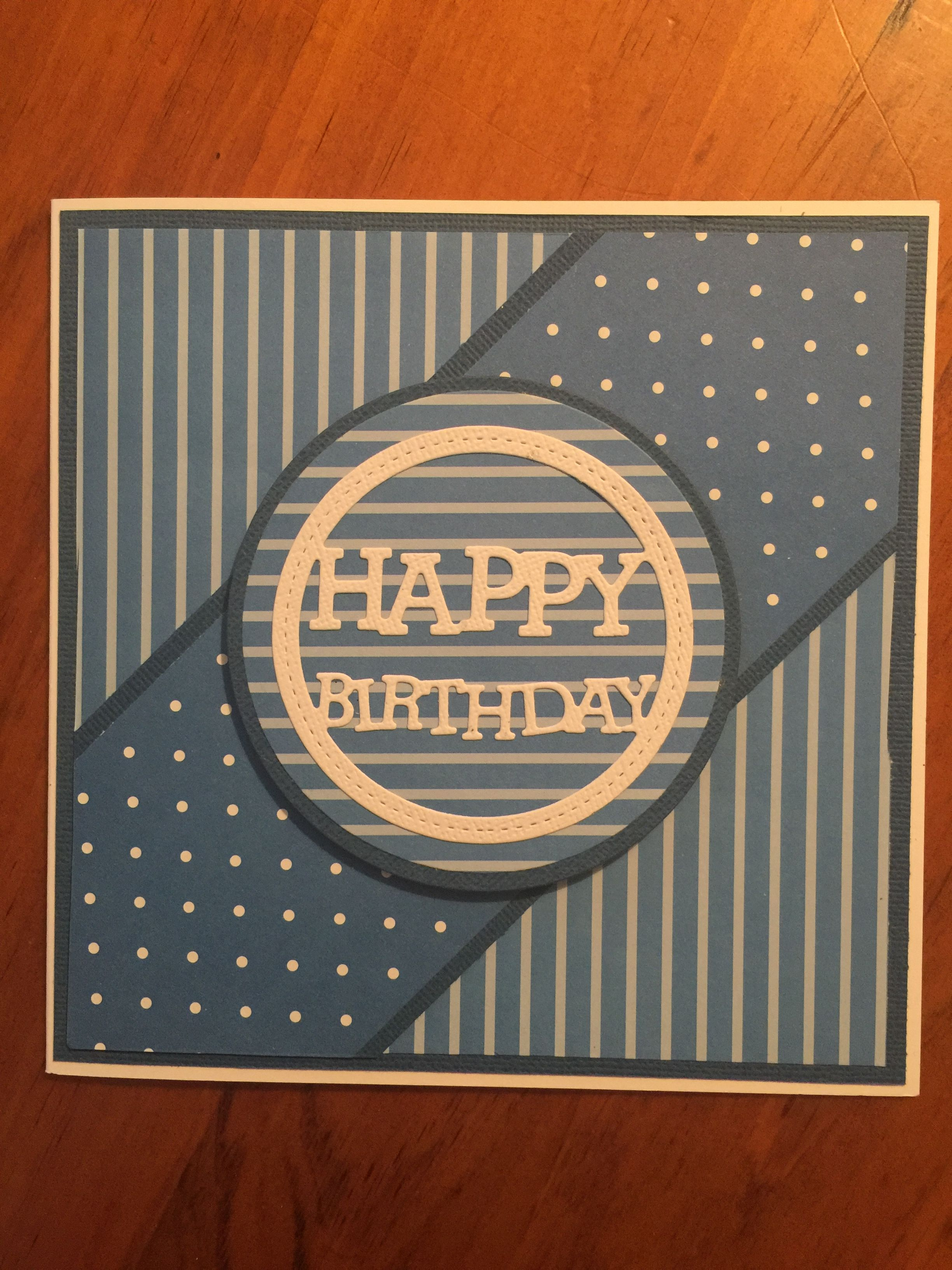 Masculine birthday card Birthday cards for men, Cricut