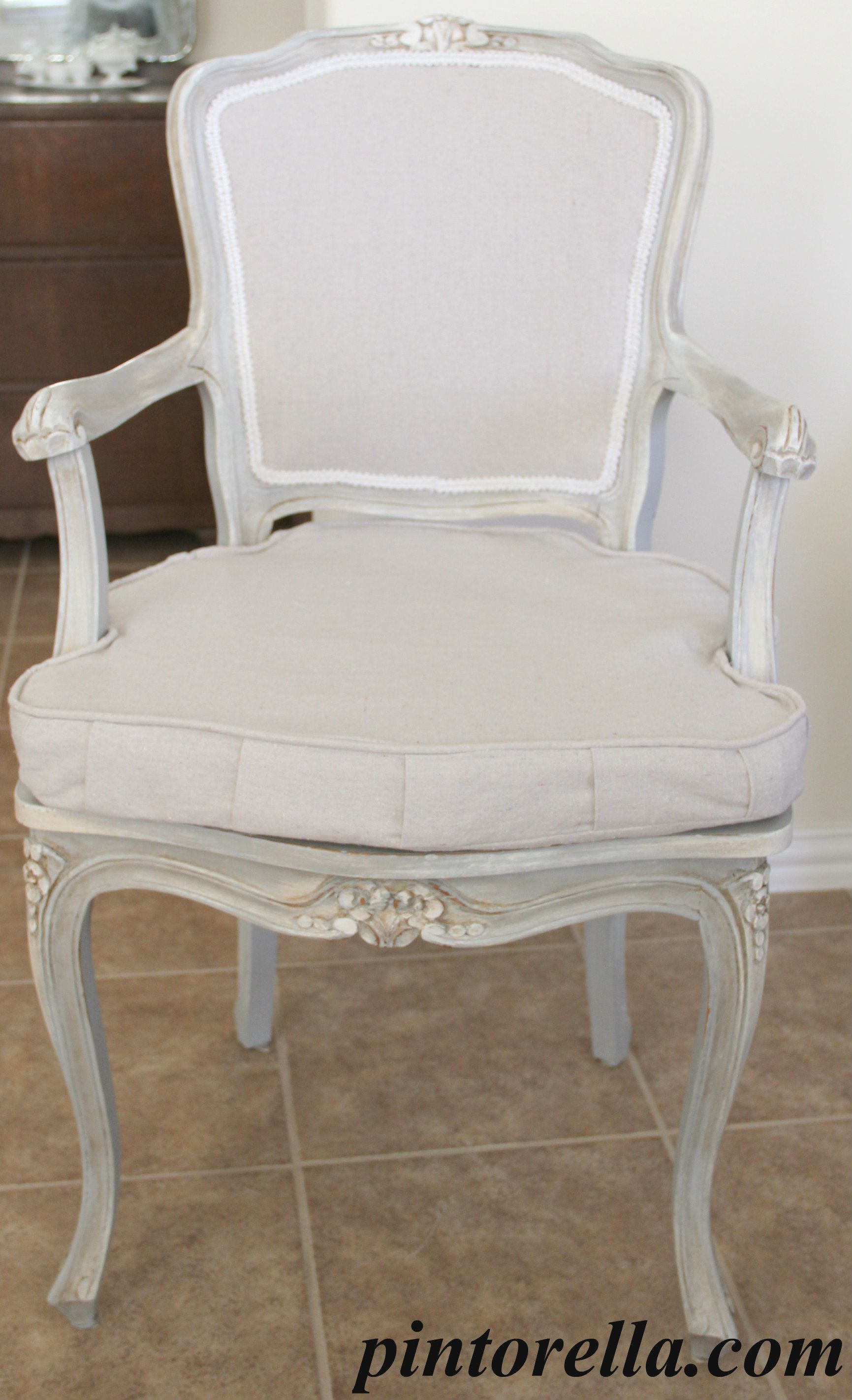 Cane Chair Painted in Chalk Paint