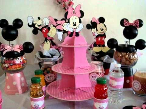 Minnie Mouse Birthday Party Ideas part 2 YouTube Braylee