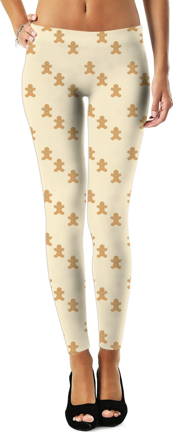 5bcfc93a10137f Cute Christmas Gingerbread leggings to get you in the holiday spirit.