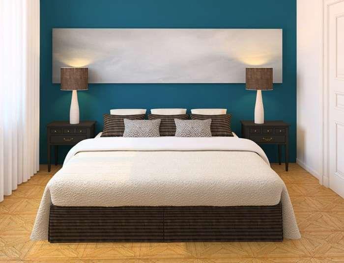 Idee per arredare la camera da letto con il verde petrolio | Verde ...