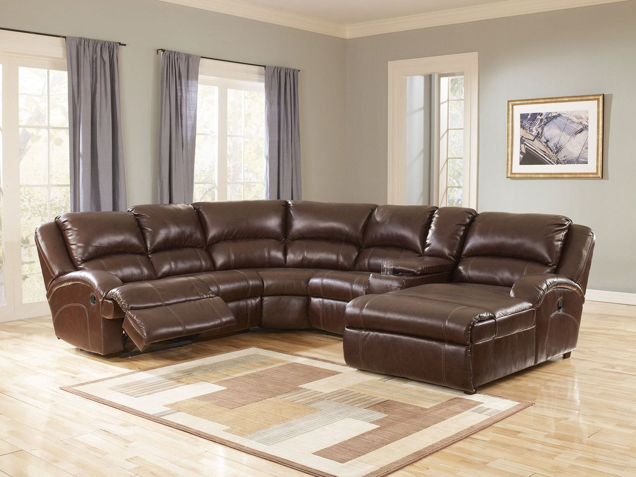 Leather Sectional Sofa With Chaise And Recliner Amazing Leather