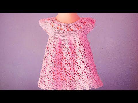 Vestido de flores a crochet para niña muy fácil y rápido #ganchillo #crochet