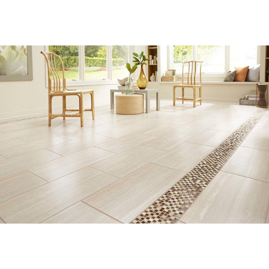 Shop Style Selections 12 x 24 Leonia Sand Glazed Porcelain Floor ...