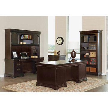 Beaumont Executive Desk Suite. Traditional OfficePedestal DeskHome Office  FurnitureComputer DesksDark WoodHome ...