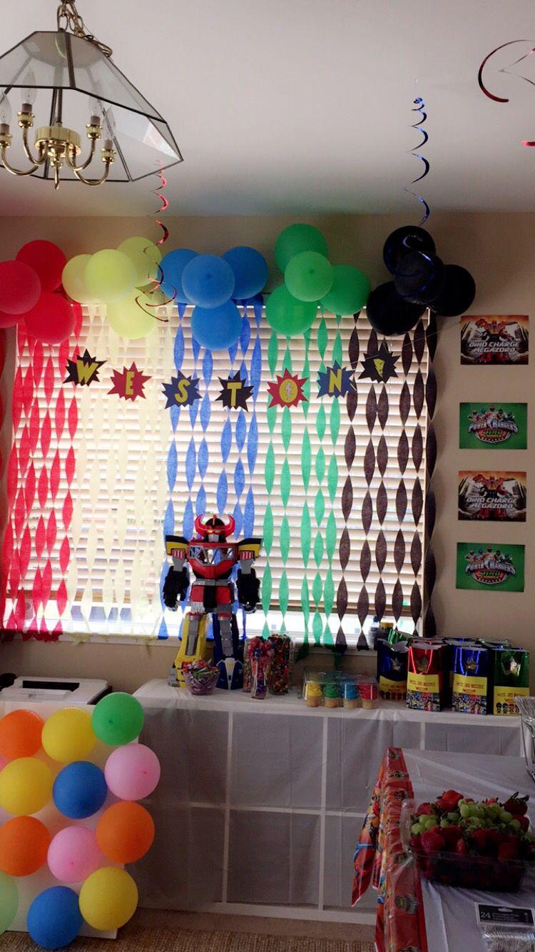 Pin On Power Rangers Birthday Decorations