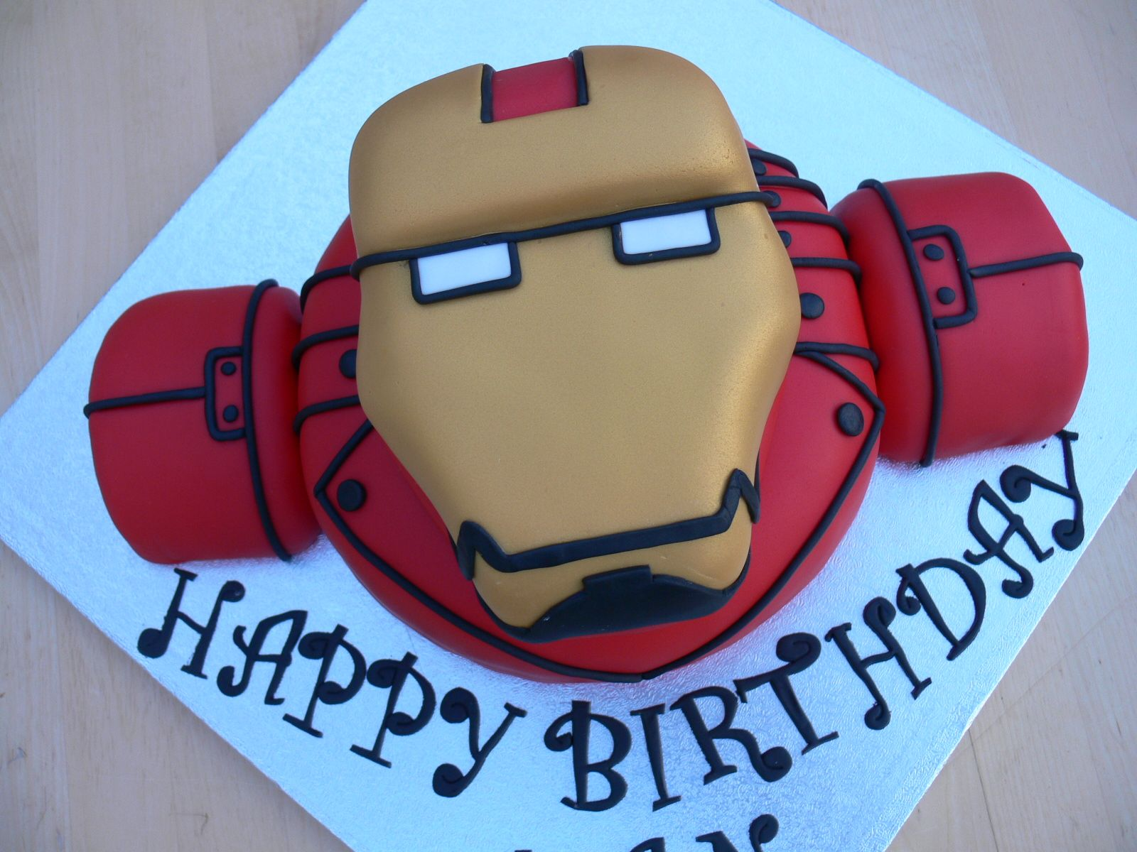 Ironman Birthday Cake fun sponge cake and perfect for the