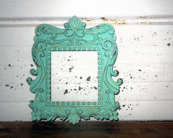 spray paint frames mint color - Mint Picture Frames