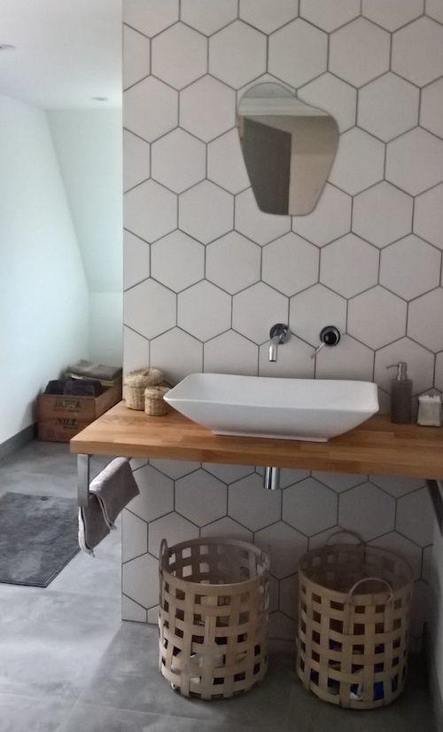 Hexagon Wit Lichtgrijs Mat Wand En Vloertegel 17 5 X 20 Cm Per M2