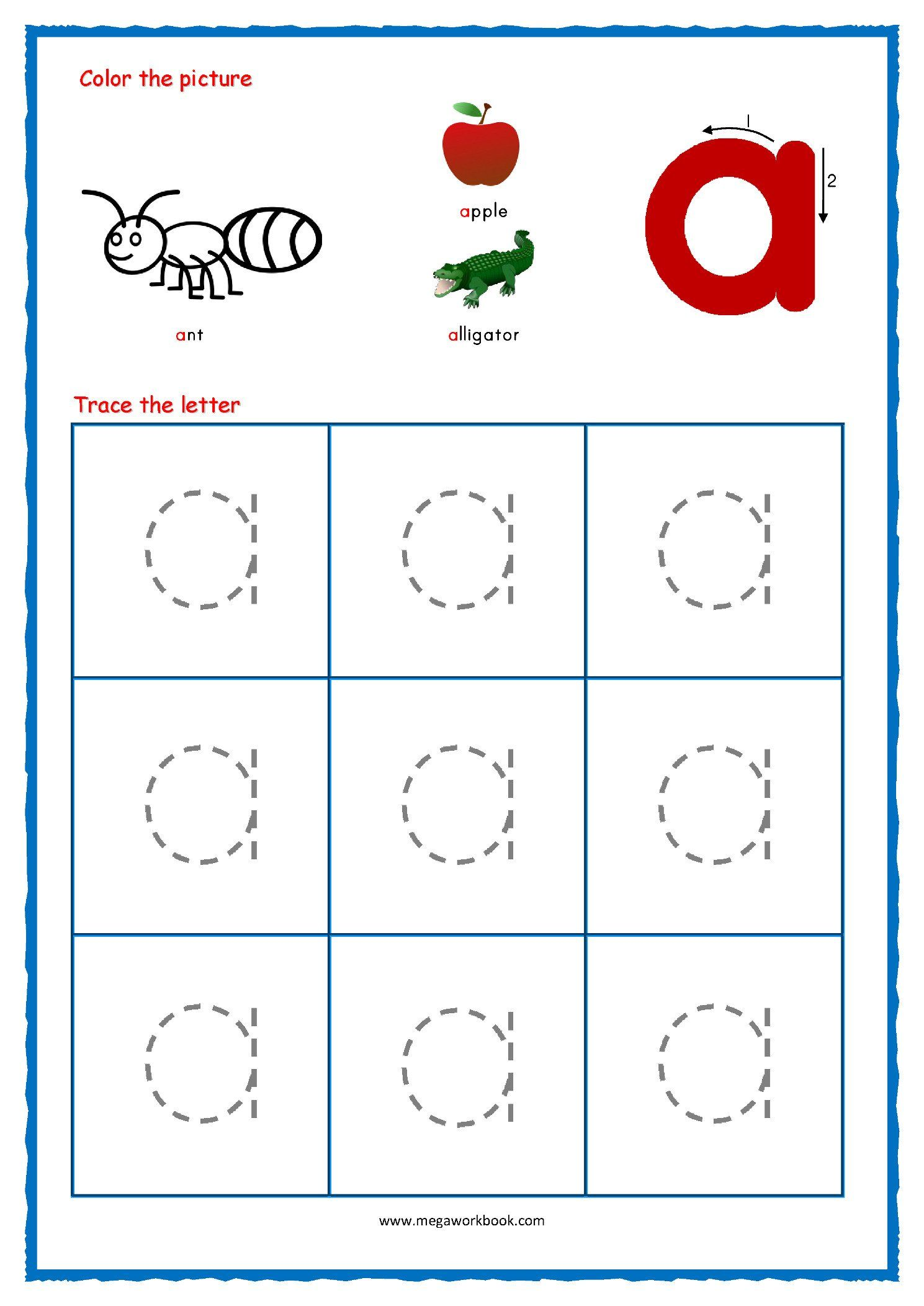 Lowercase Letter Tracing Worksheets Lower Case Letter