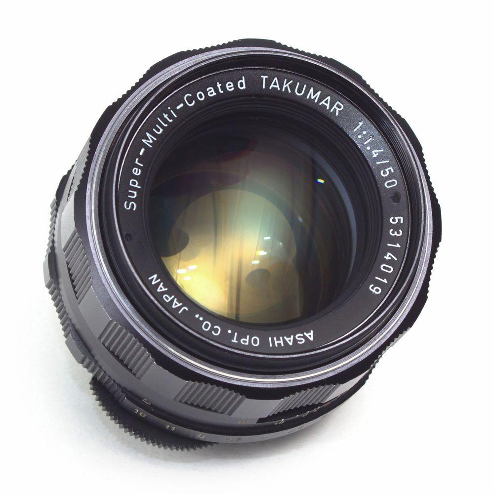 Super Multi Coated Takumar 50mm F1 4 Standard Prime Lens Pentax M42 Japan In Vgc Pentax Prime Lens Cameras For Sale