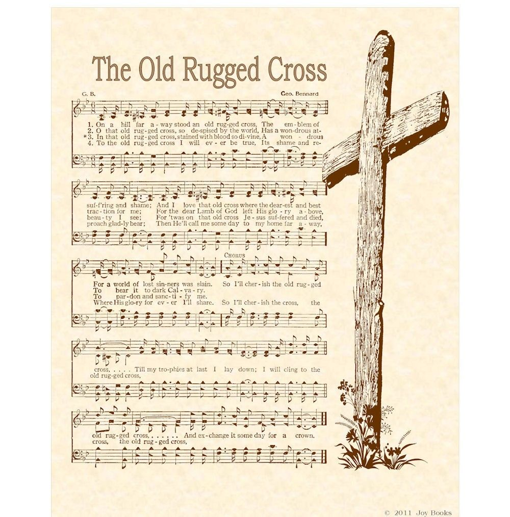 Old Rugged Cross 8 X 10 Antique