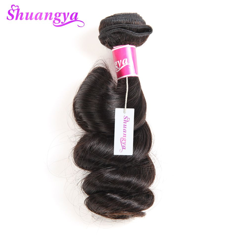Shuangya Hair Malaysian Loose Wave 1 Bundle Non Remy Hair 10 28