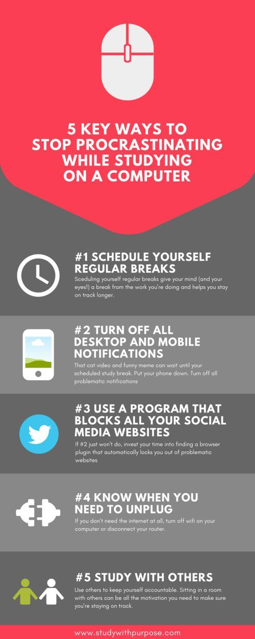 5 Key ways to stop procrastinating online while you're ...
