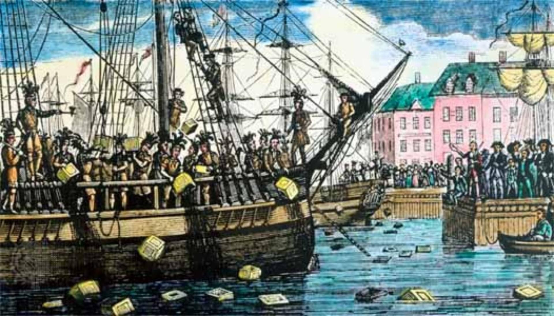 On the night of December 16, 1773, Samuel Adams and the Sons of Liberty boarded three ships in the Boston harbor and threw 342 chests of tea overboard. This resulted in the passage of the punitive Coercive Acts in 1774 and pushed the two sides closer to war.
